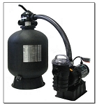 "24"" Cristal Flo II Sand Filter Tank w/ 2HP, 2-Speed pump"