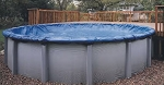 33' Round Above Ground Winter Pool Cover - 8yr Bronze