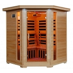 Tucson - Hemlock 4 Person FAR Infrared Sauna With Carbon Heaters - Corner Unit