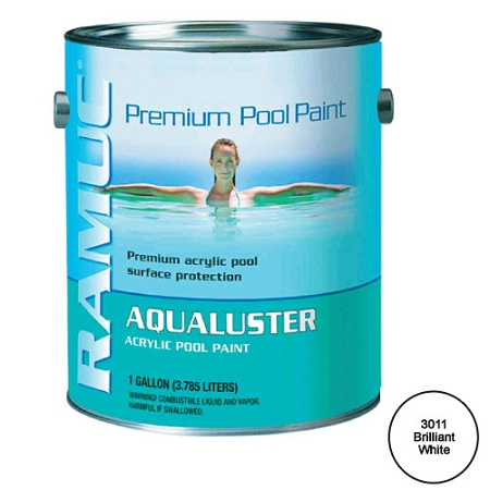 Aqualuster Swimming Pool Paint 1 Gallon White