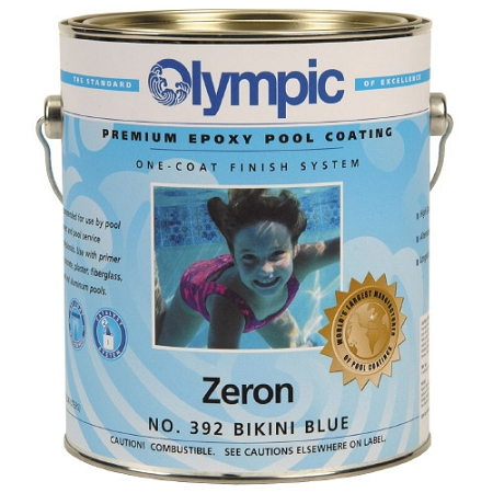 Zeron Heavy Duty One Coat Epoxy Pool Paint 1 Gallon Blue Ice