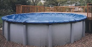 15' x 26' Oval Above Ground Winter Pool Cover - 8yr Bronze