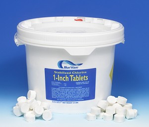 "1"" Blue Wave Stabilized Chlorine Tabs- 50lbs"