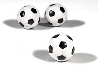 3-Pack Black & White Foosballs