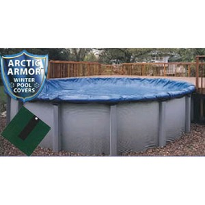 12' x 20' Oval Arctic Armor Silver Series Winter Pool Cover 12yr - 4' Overlap